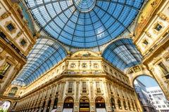 Galleria Vittorio Emanuele II Lizenzfreies Stockbild