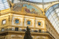 Galleria Vittorio Emanuele II Fotografía de archivo libre de regalías