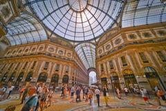 Galleria Vittorio Emanuele II imagenes de archivo