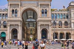 Galleria Vittorio Emanuele II fotografía de archivo