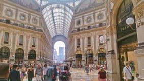 Galleria Vittorio Emanuele II fotos de archivo