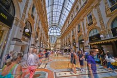 Galleria Vittorio Emanuele II foto de archivo