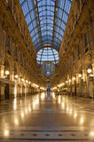 Galleria Vittorio Emanuele II. Hall of the landmark arcade or covered mall, Galleria Vittorio Emanuele II, Milan, Italy Royalty Free Stock Image