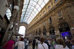 Galleria Vittorio Emanuele II Stock Afbeelding