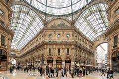 Galleria Vittorio Emanuele II Stock Fotografie