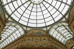 The Galleria Vittorio Emanuele II. Is a covered arcade situated on the northern side of the Piazza del Duomo in Milan royalty free stock photos