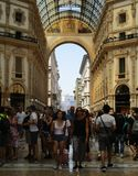 Galleria Vittorio Emanuele II Стоковое Фото