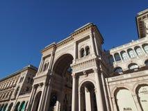 Galleria Vittorio Emanuele II arcade in Milan Stock Images