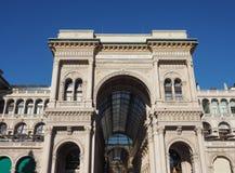 Galleria Vittorio Emanuele II arcade in Milan. MILAN, ITALY - CIRCA JANUARY 2017: Galleria Vittorio Emanuele II shopping arcade Royalty Free Stock Image