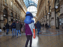 Galleria Vittorio Emanuele II arcade in Milan Stock Image