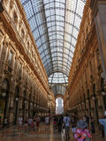 Galleria Vittorio Emanuele II arcade in Milan. MILAN, ITALY - CIRCA JULY 2017: Galleria Vittorio Emanuele II shopping arcade Stock Images