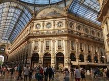 Galleria Vittorio Emanuele II arcade in Milan. MILAN, ITALY - CIRCA JULY 2017: Galleria Vittorio Emanuele II shopping arcade Royalty Free Stock Image