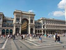 Galleria Vittorio Emanuele II arcade in Milan. MILAN, ITALY - CIRCA JULY 2017: Galleria Vittorio Emanuele II shopping arcade Stock Photography