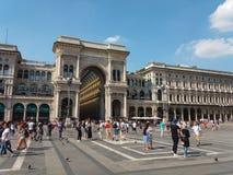 Galleria Vittorio Emanuele II arcade in Milan. MILAN, ITALY - CIRCA JULY 2017: Galleria Vittorio Emanuele II shopping arcade Stock Photos