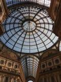Galleria Vittorio Emanuele II arcade in Milan. Galleria Vittorio Emanuele II shopping arcade in Milan, Italy Stock Images