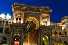 Galleria Vittorio Emanuele II in central Milan, Italy Royalty Free Stock Photos