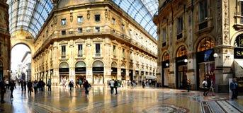 Galleria Vittorio Emanuele II dall'interno del arca Immagine Stock Libera da Diritti