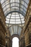 Galleria Vittorio Emanuele II em Milão Fotografia de Stock Royalty Free
