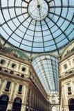 Galleria Vittorio Emanuele II em Milão Fotos de Stock Royalty Free