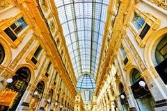 Galleria Vittorio Emanuele II em Milão Imagens de Stock Royalty Free