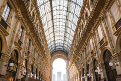 Galleria Vittorio Emanuele II Entryway Famous Destination Italy Royalty Free Stock Photo