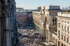 Galleria Vittorio Emanuele II Entryway Famous Destination Italy Stock Photos