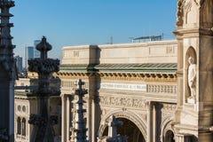 Galleria Vittorio Emanuele II Entryway Famous Destination Italy Stock Image