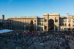 Galleria Vittorio Emanuele II Entryway Famous Destination Italy Stock Photo