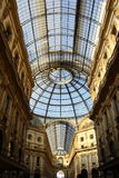Galleria Vittorio Emanuele II hall Stock Photography