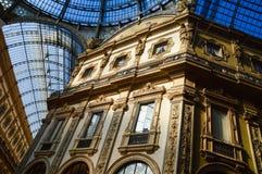 Galleria Vittorio Emanuele II i centrala Milan, Italien Royaltyfri Foto