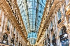 Galleria Vittorio Emanuele II, iconic shopping center in Milan,. MILAN - SEPTEMBER 11: Interior of Galleria Vittorio Emanuele II, iconic shopping center and Royalty Free Stock Photo