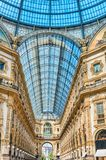 Galleria Vittorio Emanuele II, iconic shopping center in Milan,. MILAN - SEPTEMBER 11: Interior of Galleria Vittorio Emanuele II, iconic shopping center and Royalty Free Stock Photography