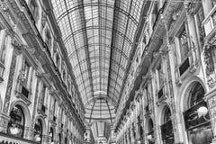Galleria Vittorio Emanuele II, iconic shopping center in Milan,. MILAN - SEPTEMBER 11: Interior of Galleria Vittorio Emanuele II, iconic shopping center and Royalty Free Stock Photos