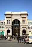 Galleria Vittorio Emanuele II in Mailand Stockbild
