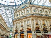 Galleria Vittorio Emanuele II in Mailand Stockbilder