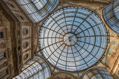 Galleria Vittorio Emanuele II 2015 - Mediolan, Luty - Fotografia Royalty Free