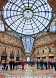 Galleria Vittorio Emanuele II. Mediolan, Włochy. Zdjęcie Royalty Free