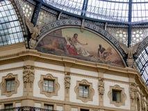 Galleria Vittorio Emanuele II, Milão Imagem de Stock Royalty Free