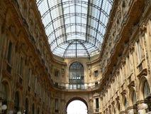 Galleria Vittorio Emanuele II, Milão (Italia) fotografia de stock