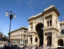 Galleria Vittorio Emanuele II - Milaan Stock Foto