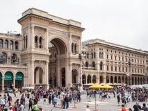 Galleria Vittorio Emanuele II, Milaan Stock Foto's