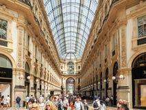 Galleria Vittorio Emanuele II, Milaan Royalty-vrije Stock Foto