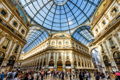 Galleria Vittorio Emanuele II in Milaan, Italië royalty-vrije stock foto