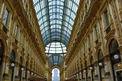Galleria Vittorio Emanuele II Milan Italy stock foto's