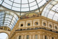 Galleria Vittorio Emanuele II is one of the most popular shopping areas in Milan. Italy. Stock Images