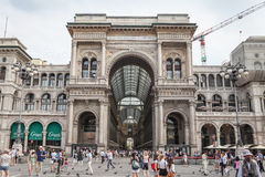 Galleria Vittorio Emanuele II in Milan Royalty Free Stock Images