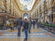 Galleria Vittorio Emanuele II Milan Stock Photo
