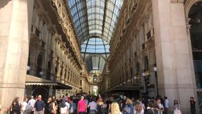 The Galleria Vittorio Emanuele II. Milan, Italy - 7 May, 2018: The Galleria Vittorio Emanuele II. It is Italy`s oldest active shopping mall and a major landmark stock video footage