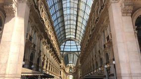 The Galleria Vittorio Emanuele II. Milan, Italy - 7 May, 2018: The Galleria Vittorio Emanuele II. It is Italy`s oldest active shopping mall and a major landmark stock video