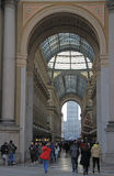 Galleria Vittorio Emanuele II in Milan Stock Images